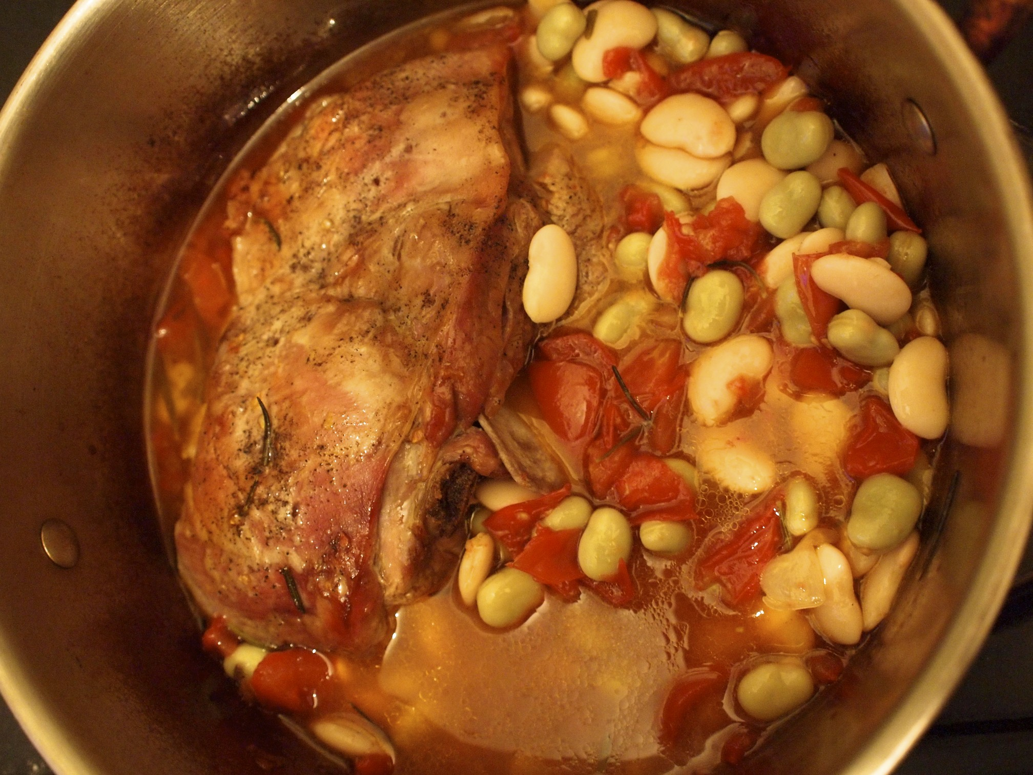 Slow-Cooked Lamb With Beans Recipe — Dishmaps