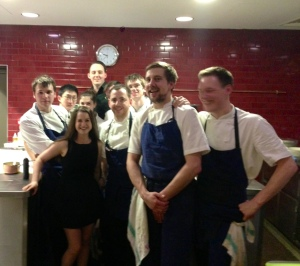 Me and the tall one join the Story team, Tom Sellers is on my right! I am a bit ashamed of myself as I am accidentally blocking the view of the female representation in the kitchen! Whoops!