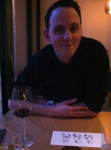 Vince, enjoying a well earned glass of Wine for getting us a table at Restaurant Story!