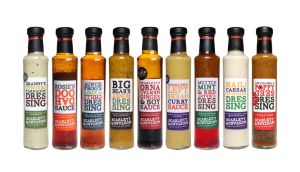 The seriously yummy Scarlett & Mustard range of sauces.