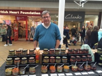Man Food's Andre tempting the good people of Newmarket!